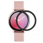 Folie Protectie Ecran Enkay pentru Samsung Galaxy Watch Active2 44mm, Sticla securizata, cu margini TPU, Blister