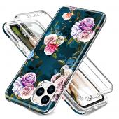 Husa TPU OEM Shockproof Rose Full Cover pentru Apple iPhone 11 Pro Max, Multicolor, Bulk