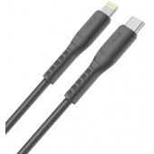 Cablu Date si Incarcare USB Type-C la Lightning UNIQ Flex, 3A, 1.2 m, Gri, Blister