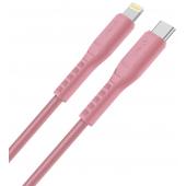Cablu Date si Incarcare USB Type-C la Lightning UNIQ Flex, 3A, 1.2 m, Roz