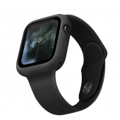 Husa TPU Uniq Lino pentru Apple Watch Series 6 / SE / 5 / 4 40mm, Neagra Blister