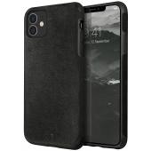Husa Piele UNIQ Sueve pentru Apple iPhone 11, Neagra, Blister