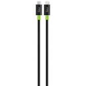 Cablu Date si Incarcare USB Type-C la Lightning Goui Classic, 1 m, Negru, Blister G-CLASSICC94BK