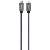 Cablu Date si Incarcare USB Type-C la Lightning Goui Fashion, 1 m, Negru G-FASHIONC94BK