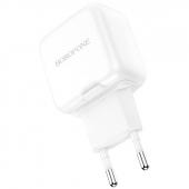 Incarcator Retea USB Borofone BA18, Smart ID, 2.1A, 2 X USB, Alb