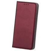 Husa Piele OEM Smart Magnetic pentru Xiaomi Redmi Note 8 Pro, Visinie, Bulk