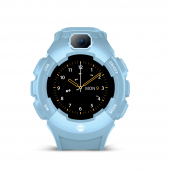 Ceas Smartwatch Forever Kids Care Me KW-400, Localizare GPS / LBS / Wi-Fi, Bleu, Blister