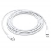 Cablu Date si Incarcare USB Type-C la USB Type-C Apple MUF7RF, 1 m, Alb