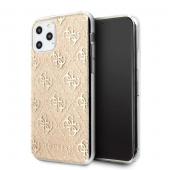 Husa TPU Guess 4G Glitter pentru Apple iPhone 11 Pro, Aurie GUHCN58PCU4GLGO