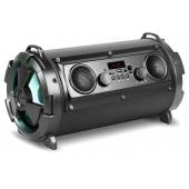 Boxa portabila Bluetooth Rebeltec SoundTube 190, 2 x Woofer + 2 x Difuzor, Led-uri, 30W, Neagra, Blister