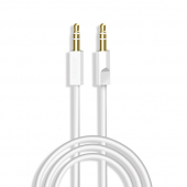 Cablu Audio 3.5 mm la 3.5 mm Dudao L12S, TRS - TRS, 2 m, Alb
