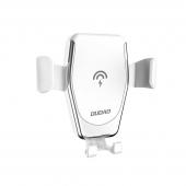 Incarcator Auto Wireless Dudao Gravity Air Vent F3Plus, Quick Charge, 10W, Alb