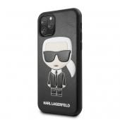Husa Piele Karl Lagerfeld Embossed pentru Apple iPhone 11 Pro Max, Neagra, Blister KLHCN65IKPUBK