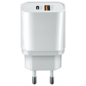 Incarcator Retea USB Forever Core UltraFast, Power Delivery (PD) + Quick Charge 3, 20W,  1x USB + 1x Tip-C, Alb, Blister