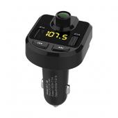 Modulator FM Bluetooth BT-36, MP3 Player, Buton de apel, Negru, Blister