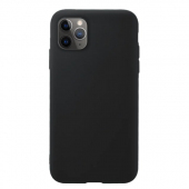 Husa TPU OEM Pure Silicone pentru Apple iPhone 11 Pro, Neagra, Blister