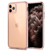 Husa TPU Spigen Ultra Hybrid Crystal pentru Apple iPhone 11 Pro, Roz - Transparenta, Blister ACS00418