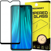 Folie Protectie Ecran WZK pentru Xiaomi Redmi 8, Sticla securizata, Full Cover, Full Glue, Neagra, Blister