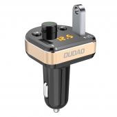 Modulator FM Bluetooth Dudao R2Pro, Mp3 Player, Buton de apel, Negru Auriu