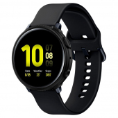 Husa TPU Spigen Liquid Air Matt pentru Samsung Galaxy Watch Active2 44mm, Neagra, Blister