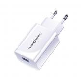 Incarcator Retea USB Usams T22, Quick Charge 3, 18W, Alb, Blister CC83TC01