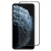 Folie Protectie Ecran Totu Design pentru Apple iPhone 11 Pro Max, Sticla securizata, Full Face, Full Glue, Anti Dust, Neagra, Blister