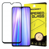 Folie Protectie Ecran WZK pentru Xiaomi Redmi Note 8 PRO, Sticla securizata, Full Face, Full Glue, Neagra, Blister