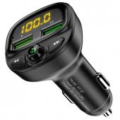 Modulator FM Bluetooth Floveme HY-87, Mp3 Player, Buton de apel, Negru