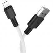 Cablu Date si Incarcare USB la Lightning HOCO Superior X29, 1 m, Alb