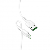 Cablu Date si Incarcare USB la MicroUSB HOCO X33 Surge flash, 4A, 1 m, Alb
