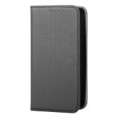 Husa Piele OEM Smart Magnet pentru Samsung Galaxy A71 A715, Neagra, Bulk
