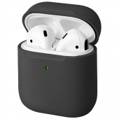 Husa TPU Uniq Lino pentru Apple Airpods 1 / 2, Neagra, Blister