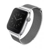 Curea UNIQ Dante Apple Watch Series 3 / 4 / 5 / 6 / SE (42/44mm), Argintie, Blister