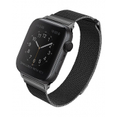 Curea UNIQ Dante Apple Watch Series 1 / 2 / 3 / 4 / 5 / 6 / SE (38/40mm), Neagra, Blister