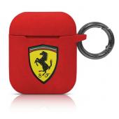Husa TPU Ferrari Scuderia pentru Apple Airpods Gen 1 / 2, Rosie, Blister FESACCSILSHRE