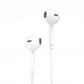 Handsfree Casti Bluetooth EarBuds cu alimentare Lightning WK-Design Y19, SinglePoint, Alb, Blister