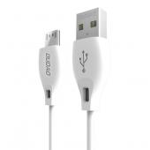 Cablu Date si Incarcare USB la MicroUSB Dudao L4M, 2.4A, 2 m, Alb