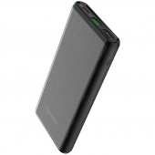Baterie Externa Powerbank Borofone BT30 Dynamic, 10000 mA, Power Delivery PD 18W + Quick Charge 3.0 18W, USB Type-C + 2 x USB, Neagra, Blister