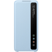 Husa Plastic Samsung Galaxy S20 G980 / Samsung Galaxy S20 5G G981, Clear View, Albastra, Blister EF-ZG980CLEGEU