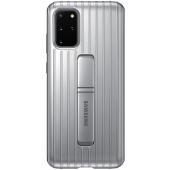 Husa Plastic Samsung Galaxy S20 Plus G985 / Samsung Galaxy S20 Plus 5G G986, Standing, Argintie, Blister EF-RG985CSEGEU