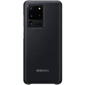 Husa Samsung Galaxy S20 Ultra G988 / Samsung Galaxy S20 Ultra 5G G988, Led Cover, Neagra, Blister EF-KG988CBEGEU