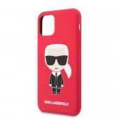 Husa Plastic - TPU Karl Lagerfeld Iconic Body pentru Apple iPhone 11, Rosie KLHCN61SLFKRE
