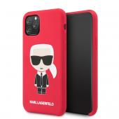 Husa Plastic - TPU Karl Lagerfeld Iconic Body pentru Apple iPhone 11 Pro Max, Rosie, Blister KLHCN65SLFKRE