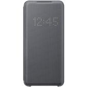 Husa Textil Samsung Galaxy S20 G980 / Samsung Galaxy S20 5G G981, Led View, Gri EF-NG980PJEGEU