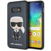 Husa Plastic - TPU Karl Lagerfeld Ikonik Full Body pentru Samsung Galaxy S10e G970, Bleumarin KLHCS10LIKPUBL