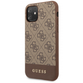 Husa Piele Guess 4G Stripe pentru Apple iPhone 11, Maro GUHCN61G4GLBR