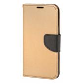 Husa Piele OEM Fancy pentru Samsung Galaxy A71 A715, Aurie Neagra