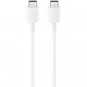 Cablu Date si Incarcare USB Type-C la USB Type-C Samsung EP-DA705BWE, 1 m, Alb, Bulk