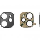 Folie Protectie Camera spate Ringke pentru Apple iPhone 11, Sticla securizata, STYLING, Neagra, Blister ACCS0001