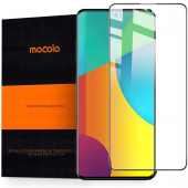 Folie Protectie Ecran Mocolo pentru Samsung Galaxy A51 A515, Sticla securizata, Full Face, Full Glue, 9H, 2.5D, Neagra, Blister